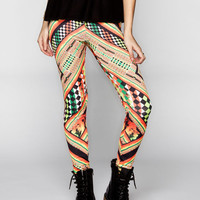 See You Monday Snoop Dogg Rasta Geo Womens Leggings Multi  In Sizes