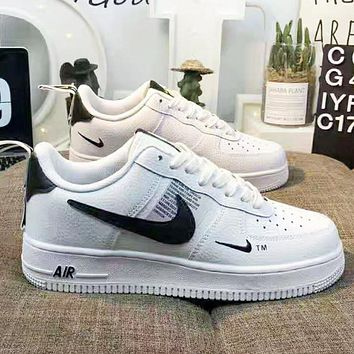 NIKE Air Force 1 Popular Women Men Sports Running Shoes Sneakers White