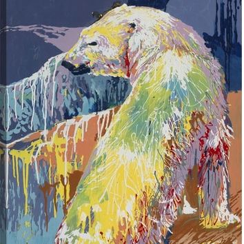 Polar Bear Animal Canvas Wall Art Print by Fatmir Gjevukaj