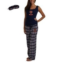 Chicago Bears Womens Revelation Plaid Flannel Pajama Pants