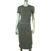 Lauren Ralph Lauren Womens Cotton Striped T-Shirt Dress
