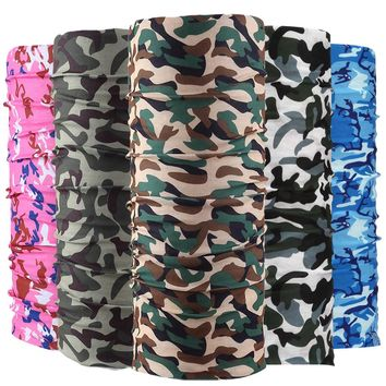 Camouflage Bandana Army Headband Camo Bandana Bicycle Bandana Scarf Face Mask Headscarf 25*48cm
