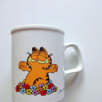 Vintage Garfield Morning Glory Coffee Mug 1978