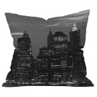 DENY Designs New York Financial District Throw Pillow