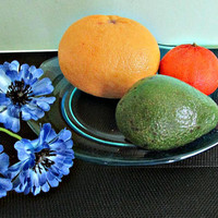 Soviet Blue Glass Serving Plate, Cake, Fruit, Dish, Tray, Platter made in USSR