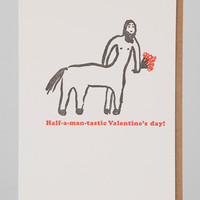 Egg Press Half-A-Man-Tastic Valentine's Day Card - Urban Outfitters
