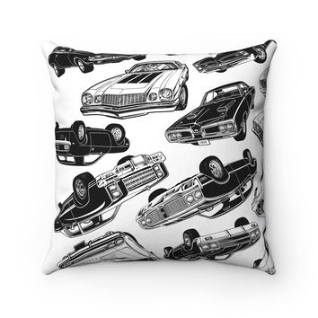 Muscle Car Mania Square Pillow