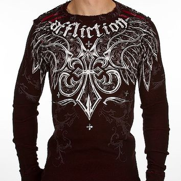 Affliction Chrome Reversible Thermal Shirt