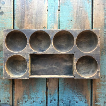 Antique Wood Parts Tray, Jewelry Dish, Wooden Tray, Desk Organizer, Workbench Organizer, Jewelers Tray