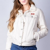 Sherpa Lined Denim Jacket by Dickies Girl