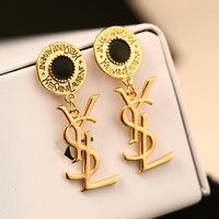 YSL Stylish Women Logo Letter Pendant Earrings Accessories Jewelry I13644-1