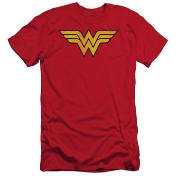 DCCKM83 Wonder Woman Logo Dist Short Sleeve Adult 30/1