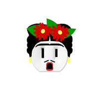 Frida Kahlo - Electric Outlet Wall Art Sticker - Removable