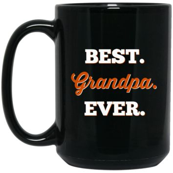 Best Grandpa Ever BM15OZ 15 oz. Black Mug