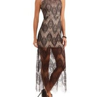 Mesh & Lace Maxi Dress by Charlotte Russe