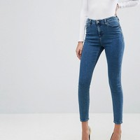 ASOS RIDLEY Skinny Jeans In Lanie London Blue Wash at asos.com