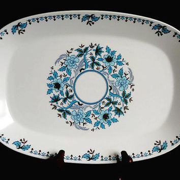 Vintage, Noritake China, Progression China, Blue Moon Collection, Blue Floral, China Platter