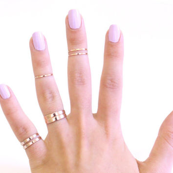 Mixed Midi Ring Set - Mixed Knuckle Ring Set