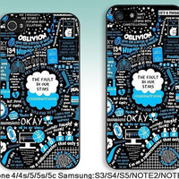 For iPhone 4 case iPhone 5 Case iPhone 5s Case iPhone 5c case Samsung S5 S4 S3 Case samsung note3 note2 case--The Fault in Our Stars