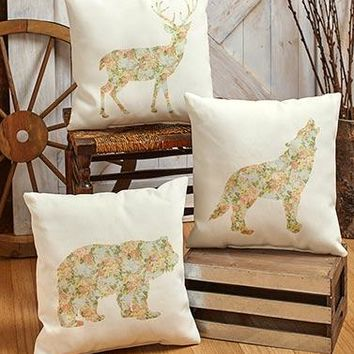 """16"""" Indoor/Outdoor Floral Lodge Pillows"""