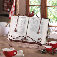 Cookbook Stand-Red Rooster