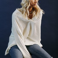 BF: Too Good Ivory VNeck Pullover