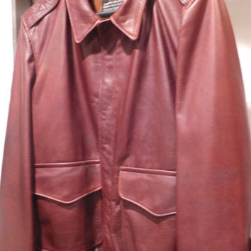 SCHOTT NYC A2  FLIGHT LEATHER JACKET SIZE LARGE MADE IN USA NWT