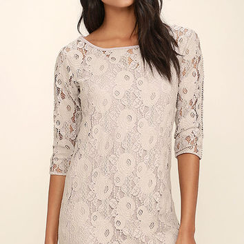 Gentle Fawn Hawk Grey Lace Dress