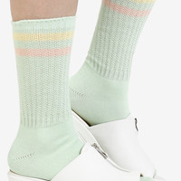 Pastel Stripe Socks - Honeydew