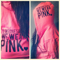 IN STOCK LARGE - On Wednesdays We Wear Pink - Women's Zip Hoodie