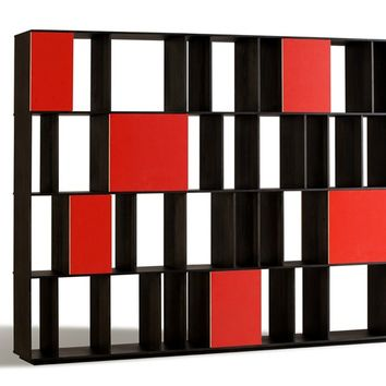 Open double-sided ash bookcase CODEX by Morelato | design Piero Lissoni