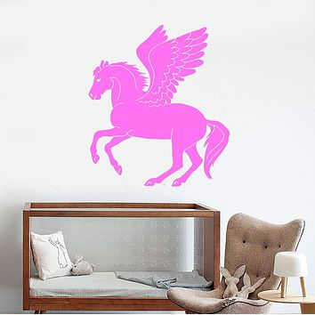 Wall Stickers Vinyl Decal Pegasus Winged Horse Fantasy Mythical Animal Unique Gift (ig119)
