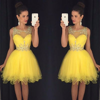 Short homecoming dress S065