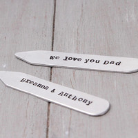 Personalized Collar Stays, Personalize Gift Idea, Gifts for Dad,Engraved Collar Stay,Groomsmen Gift,Father of the Bride,Personalized Wedding