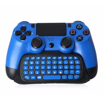 High Quality 2.4G Wireless Bluetooth Keyboard Keypad Chatpad for PlayStation 4 PS4 Slim and For PS4 Pro Game Controller Gamepad