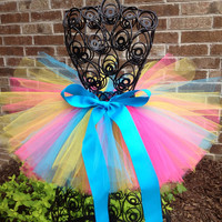 Rainbow birthday tutu - Baby girls tutu - Children - Clothing - Photo prop