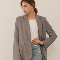 [YUPPE] check jacket (brown)