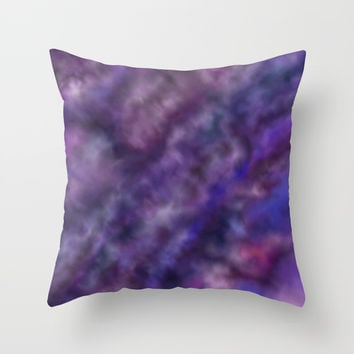 Amethyst Sky Throw Pillow by alishadawn