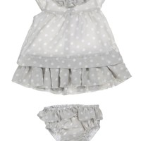 KANZ Baby Baby-Girls Newborn Micro Chip Dress with Diaper Cover