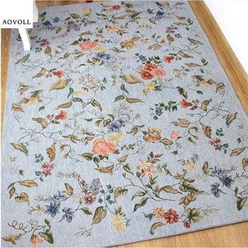Autumn Fall welcome door mat doormat AOVOLL European Style Soft Flower Carpets For Living Room Bedroom Kid Room Rugs Home Carpet Floor  Soft Large Area Rug AT_76_7