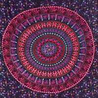 Twin Hippie Elephant Tapestries, Mandala Tapestry Bedspread , Dorm Tapestry, Dorm Décor Beach Throw