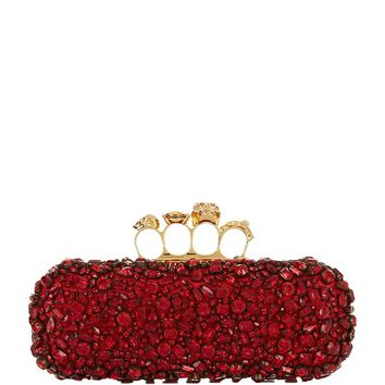 Alexander McQueen Embellished Knuckle Box Clutch | Harrods.com