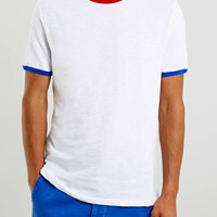 Three Coloured Ringer T-Shirt - New In
