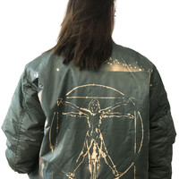 The Vitruvian Woman Bomber Jacket