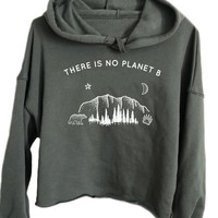 There Is No Planet B - Athletic Crop Hoodie