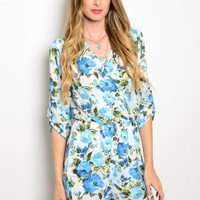 Fancy in Florals Romper - Lucky Duck Boutique