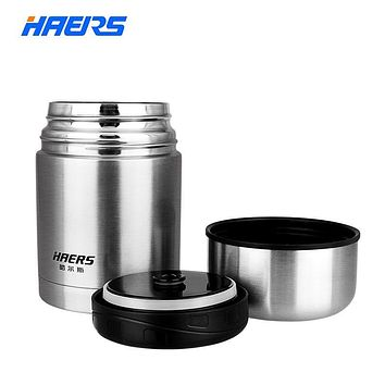 Haers 600ml Thermos 18/8 Stainless Steel Insulated Food Thermos for Food Lunch Box
