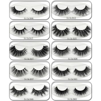 Lash New Arrival 3D Silk Lashes Eyelashes Natural Thick Long Lashes False Lashes Handmade Eyelash Extension Makeup 1 Pair