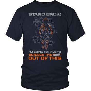 Science Stand Back Shirts and Hoodies - Duct Taped Version