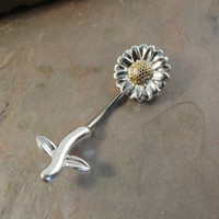 Sunflower Belly Button Jewelry Ring In-N-Out